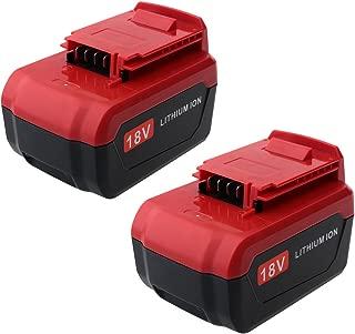 Biswaye 2 Pack 4.0Ah 18-Volt Lithium Battery for 18-Volt Porter Cable Lithium-ion & Ni-Cd Battery PC18B PC18BL PC18BLX PC18BLEX