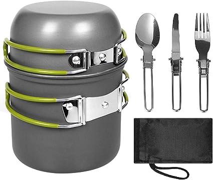 SUNAN - Batería de cocina para acampada, ligera, portátil ...