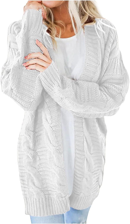 Women's Sweater Long Split Cardigan Sweater Solid Color Long Sleeve Decorative Pocket Coat