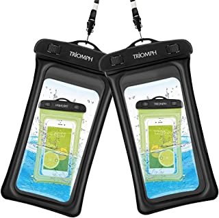 Triomph Floating Waterproof Phone Pouch, Waterproof Phone Case,iphone Dry Bag for iPhone 11 pro max/11/Xs Max/Xr/X/8/8Plus/7/6s Plus, Samsung Galaxy S10 S9+,Note,MOTO,Google Pixel/LG/HTC 6.5