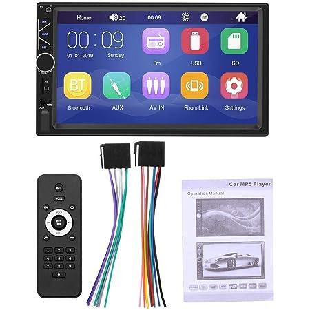 Luckything 7 Zoll Autoradio Radio Auto Unterhaltung Multimedia Radio Mit Mirrorlink Für Ios Android Telefon Bluetooth Freisprecheinrichtung 7 Zoll Touchscreen Bildschirm Fm Sd Usb 2 Din Auto