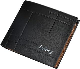 محفظة رجالي جلد من بايليري محافظ رجالي جيب مع 6 جيوب للكروت و جيب للبطاقة الشخصية محافظ للرجال (أسود)
