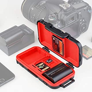 LENSGO Camera Battery Memory Card Case, Memory Card Hard Protector Case Professional Water-Resistant Anti-Shock Camera Bat...
