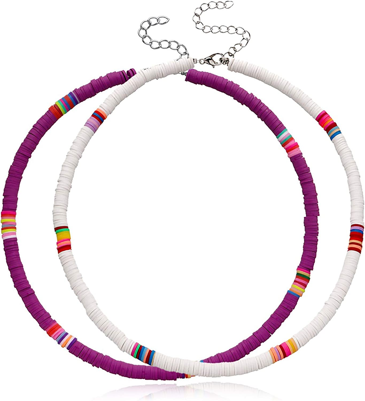 Beaded Choker Necklaces for Women Girls Boho Seed Bead Choker Set Beads Chokers Beaded Necklace Handmade Summer Beach Jewelry Gifts for Teen Girls