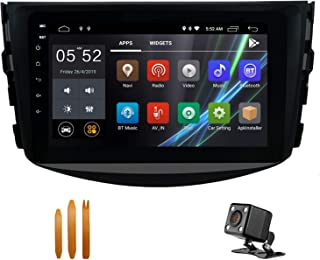 SWTNVIN Car Stereo for Toyota RAV4 2006 2007 2008 2009 2010 2011 2012,Android 9.0 8 inch HD Car Audio with 2GB RAM 32GB ROM Support WiFi BT GPS Steering Wheel Control Free Backup Camera
