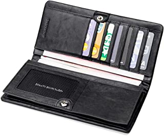 YINJIESHANGMAO High Quality Men's Wallet, Long Clutch, Travel Wallet, Men's Boxed Gift, Card Holder (Black) Light Weight (Color : Black, Size : 18.5 * 9cm)