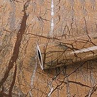 EYCFSJ 家具リメイク リフォームシール 茶色の大理石の防水および防油ステッカーキャビネットデスクトップホームリフォーム増粘自己粘着紙60Cmx3M