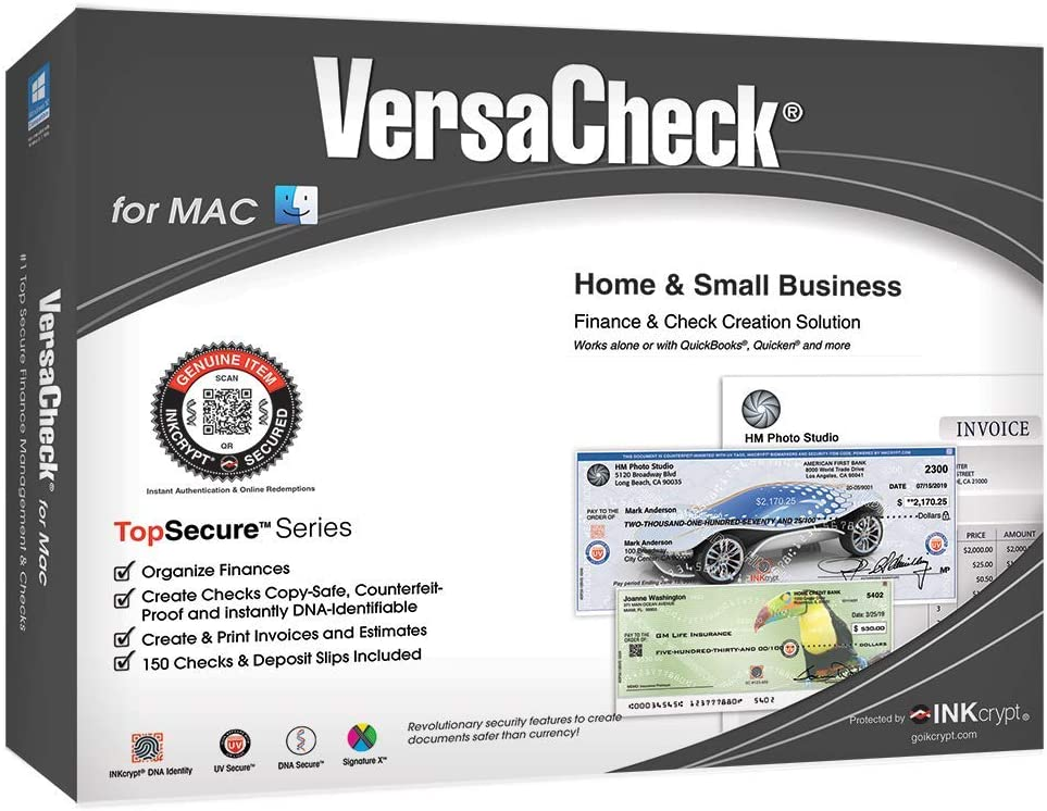 VersaCheck For Mac - Business Max 47% OFF Genuine Free Shipping Personal Creation Software Check