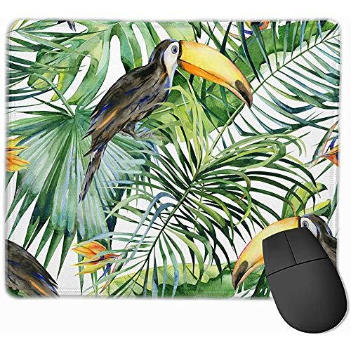 Acuarela Toucan Bird Ramphastos Nature Alfombrilla de ratón Rectángulo Alfombrilla de Goma Antideslizante Alfombrilla de ratón para Juegos 25 * 30Cm