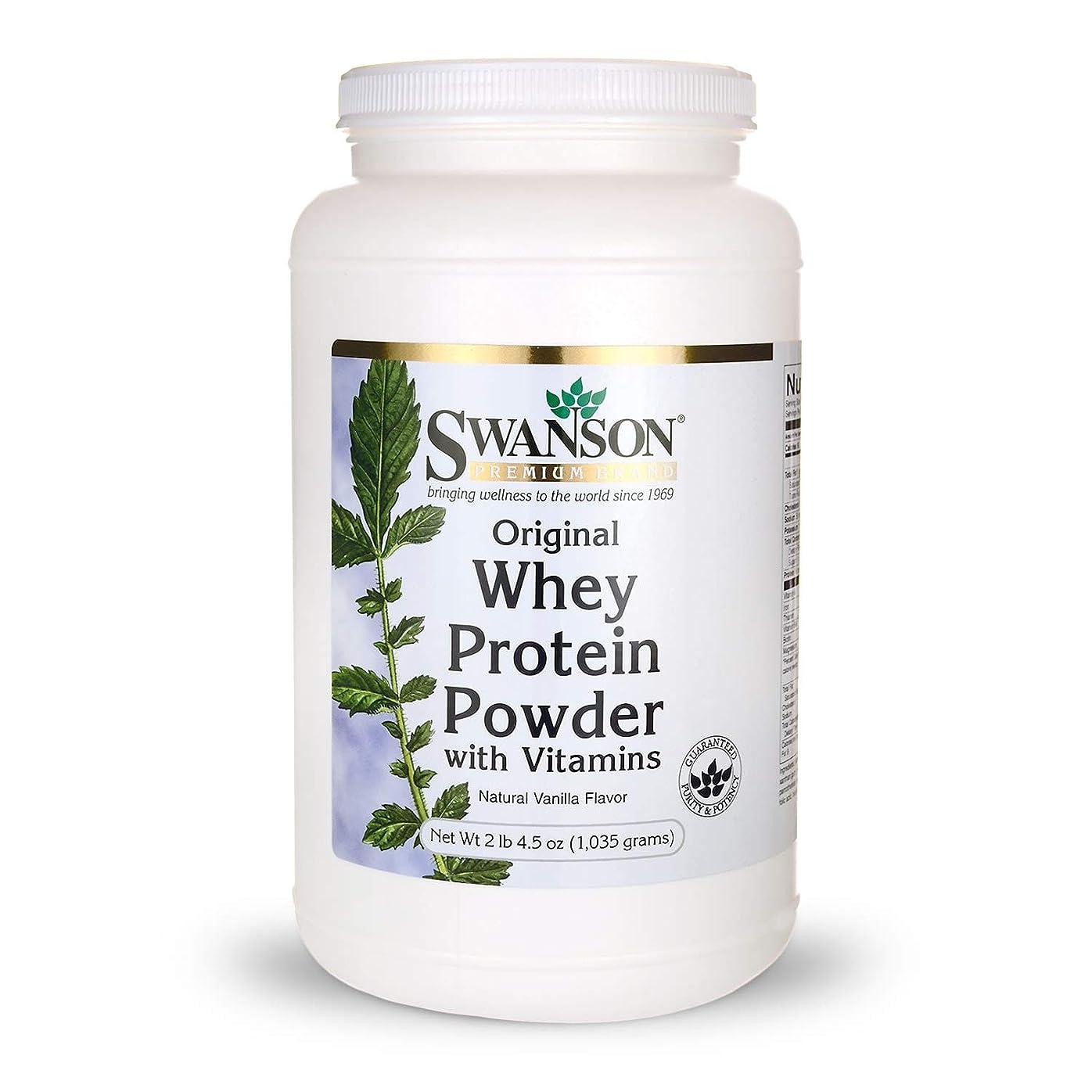 エスニック意気消沈した承認Whey Protein Powder 36.5 oz vanilla flavor (1,035 grams) by Swanson Premium