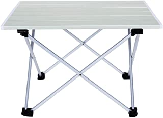 AIMEZO Aluminum Folding Collapsible Camping Table Roll up 3 Size with Carrying Bag for Indoor and Outdoor Picnic, BBQ, Bea...