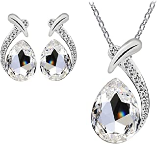 Women's Shiny Crystal Rhinestone Silver Plated Pendent...