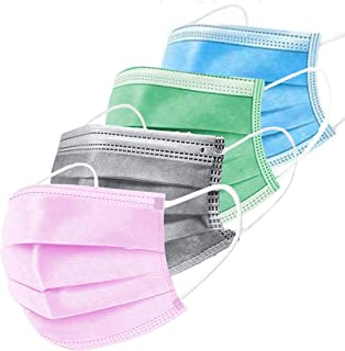 Mango People 100 Units Ultrasonic Disposable Breathable Pollution Face Mask with 3 Layer; (4 Different Color Each Color of...