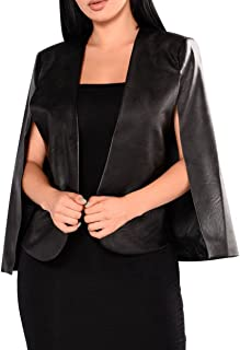 Best faux leather poncho Reviews