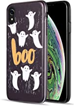 [ Storm Buy ] Phone Case Compatible with [ Apple iPhone XR 2018 ] Case Halloween Ghost Phantom Spooky Series Protective Sturdy Rubber Cover for iPhone XR (Boo)