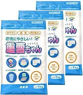 【まとめ買い】 カネヨ石鹸 マルチクリーナー 重曹ちゃん 粉末 1kg×3個  計量スプーン付