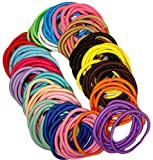 Kenz Laurenz 100 Hair Elastics Hair Ties No Crease Ouchless Ponytail Holders No...