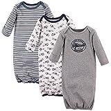 Hudson Baby Unisex Cotton Gowns, Aviation, 0-6 Months