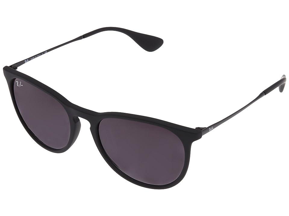 Ray-Ban Erika (Rubberized Black) Plastic Frame Fashion Sunglasses