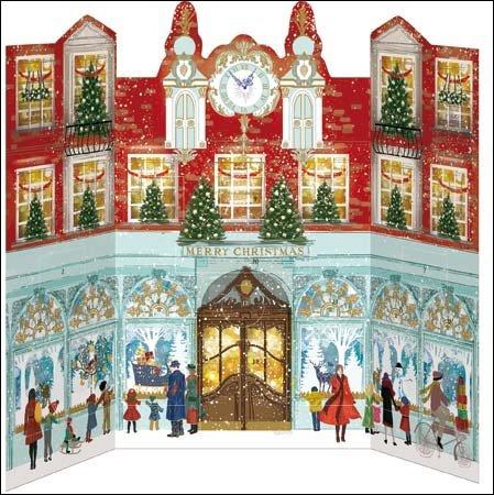 Advent Calendar 2016 - Christmas Shopping - a 3D glitter Christmas advent calendar by Woodmansterne