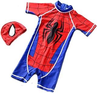 男の子 水着 ベビーガード スパイダーマン セット ラッシュガード 帽子 キッズ ベビー服 ラッシュ ジュニア 子供 かっこいい かわいい 紫外線カット 温泉 スイムウェア スイミング カジュアル 夏 S-2XL
