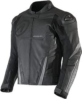 Olympia Kanto Men's Street Motorcycle Leather Jacket - Black/Grey / Large