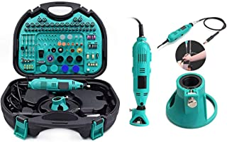 Rubik Rotary Tool Kit with MultiPro Keyless Chuck and Flex Shaft - 252pcs Accessories Variable Speed 130W Electric Drill Set for Grinding Engraving Crafting Projects and DIY Creations