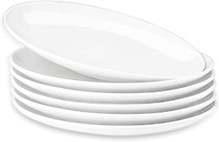 DANMERS White Dinner Plate Set (10.5-Inch, 6-Piece), Restaurant, Family Party and Kitchen Use | Set for 6 | White