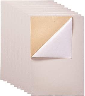 BENECREAT 20PCS Velvet (Ivory) Fabric Sticky Back Adhesive Back Sheets, A4 Sheet (8.3