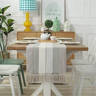 Tischläufer Heim Tischdecke Dekorative 2 Seiten Baumwolle Leinen klassischen Tisch Bettwäsche Mat Esszimmer Partei-Feiertags-Dekoration Deko-Party Color : Khaki, Size : 38x180cm