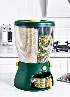 Distributeur de Nourriture sèche, 4 Grille de Rangement de Riz Conteneur Distributeur de Nourriture sèche Distributeur Ali...