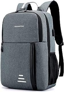 YYuzhongfenM New Simple Travel Bag Smart USB Waterproof Oxford Cloth Shoulder Bag Fashion Business Student Computer Bag (Color : Grey)