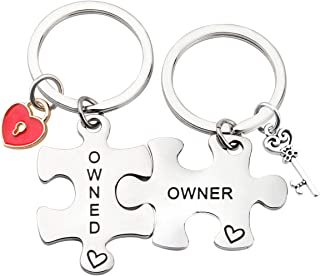 MAOFAED Couple Matching Keychain Set Owner and Owened Keychain BDSM Gifts Daddydom Gift DDLG Gifts Babygirl Gift Couple Gift