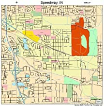 Large Street & Road Map of Speedway, Indiana IN - Printed poster size wall atlas of your home town