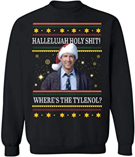 Best Clark Griswold Hallelujah Holy Shit Where's The Tylenol Christmas Sweater, Hoodie, Long Sleeve, Short Sleeve, Ladie Short Sleeve T Shirt Review