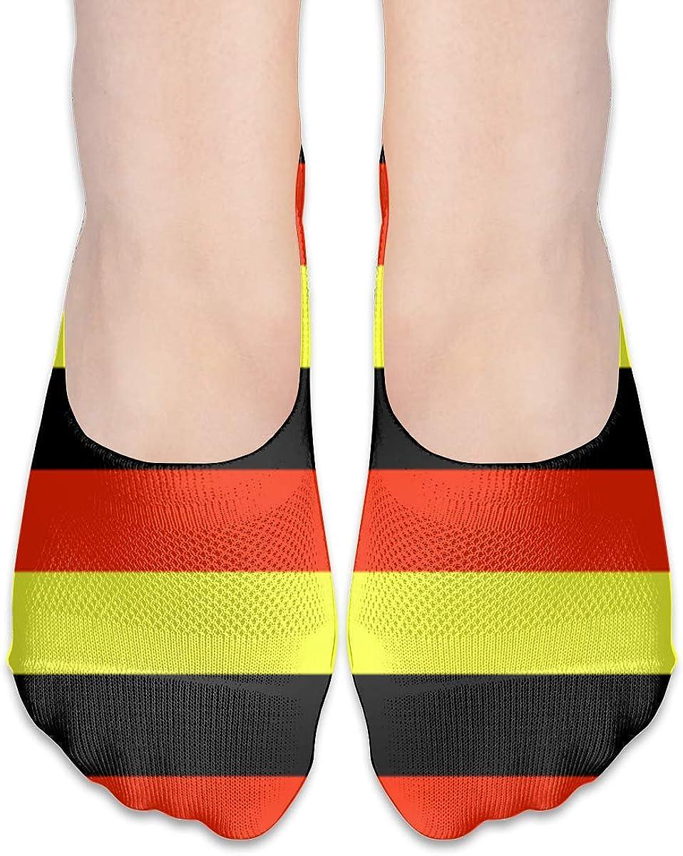 No Show Socks Women Men For German Flag Germany Flats Cotton Ultra Low Cut Liner Socks Non Slip