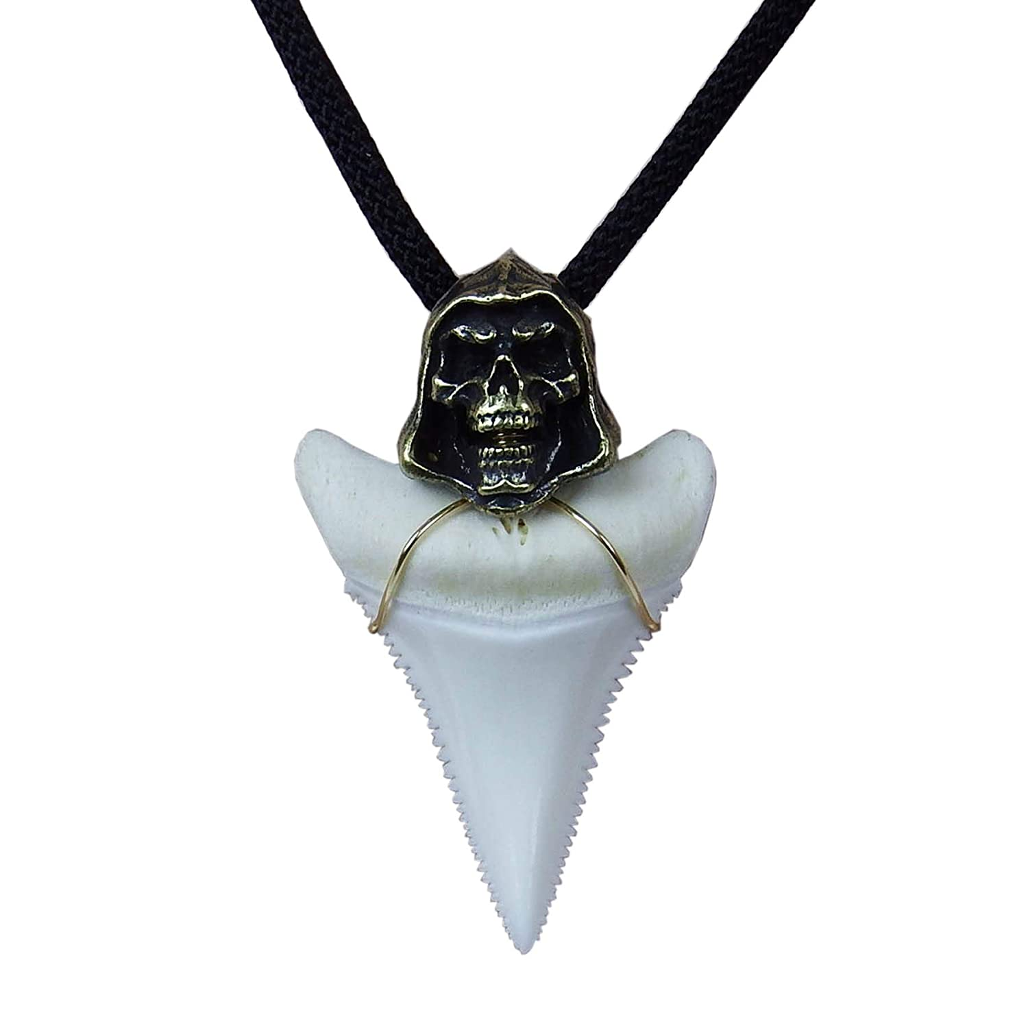 Handmade Shark Tooth Necklace for Men 1.6 inch Great Megalodon ...