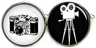 """Gemelos con diseño de cámara de película clásica """"No see Long Time"""", cámara retro, cámaras vintage, gemelos personalizados..."""