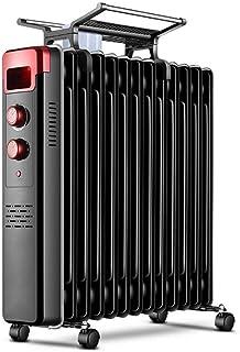 YLOVOW Calentador Mini Radiador Lleno Aceite 2000w 11fin Enchufe Pequeño Calentador Eléctrico Portátil Termostato Diseño Liviano Corte Térmicoseguridad Espacios Pequeños
