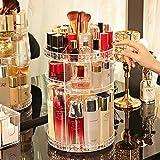 Organizador de maquillaje giratorio, 360 ° Joyería ajustable Perfumes Cosméticos Pantalla Caja de soporte de gran capacidad Póngase de almacenamiento para el baño de dormitorio.