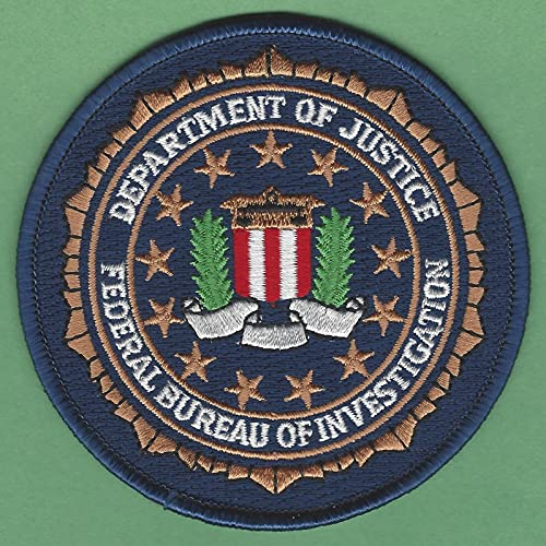by SFI FBI Federal Bureau of Investigation Department of Justice Seal Patch