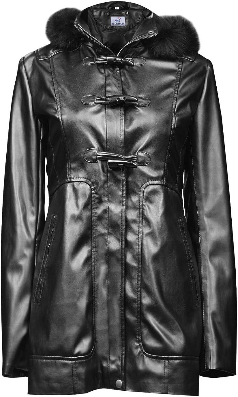 TheSmartSales Sheeny Womens Faux Fur Hooded Long Coat