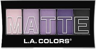 L.A. Colors 5 Color Matte Eyeshadow, Purple Cashmere, 0.08 Ounce