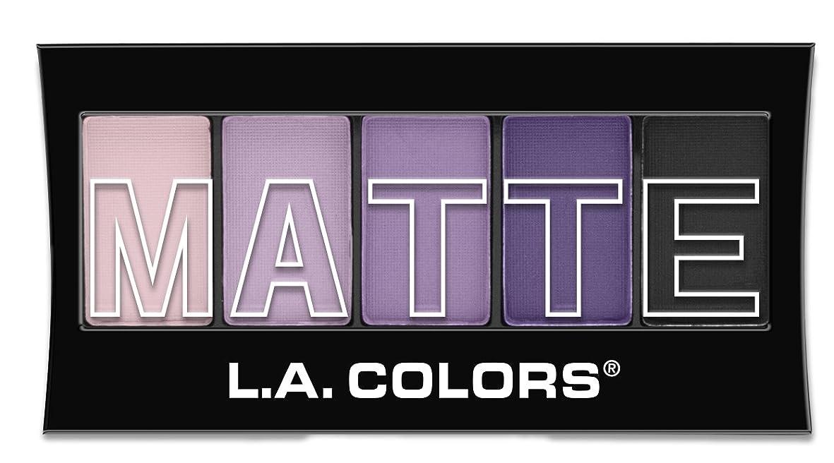 息を切らしてストラトフォードオンエイボン微弱L.A. Colors Matte Eyeshadow - Purple Cashmere (並行輸入品)