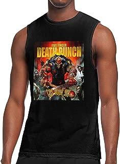 Five Finger Death Punch Got Your Six Men's Unique Design Round Neck Cotton Sleeveless T-Shirt