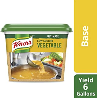 Knorr Professional Ultimate Low Sodium Vegetable Stock Base Vegan, Gluten Free, No Artificial Flavors or Preservatives, No added MSG, Colors from Natural Sources, 1 lb, Pack of 6