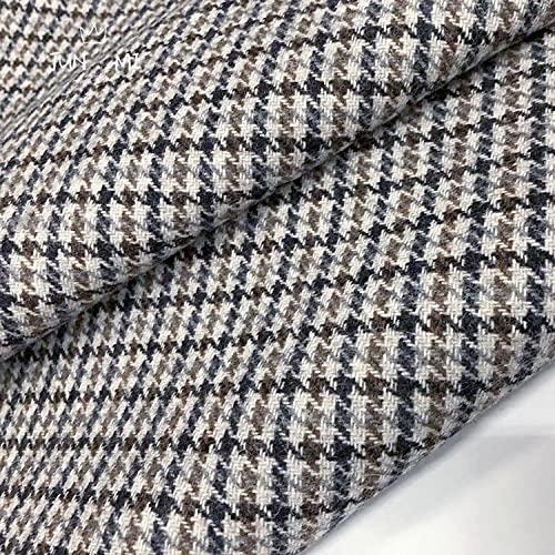 Se vende por metros como tela decorativa, ropa de otoño e invierno, de sarga de doble cara con patrón de pata de gallo de 0,5 m.