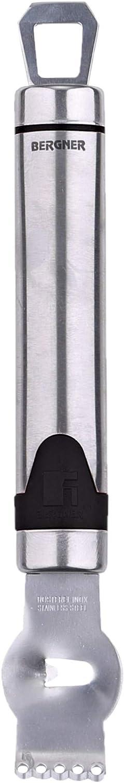 Bergner Rallador para Corteza de limón en Acero Inoxidable, 17 cm