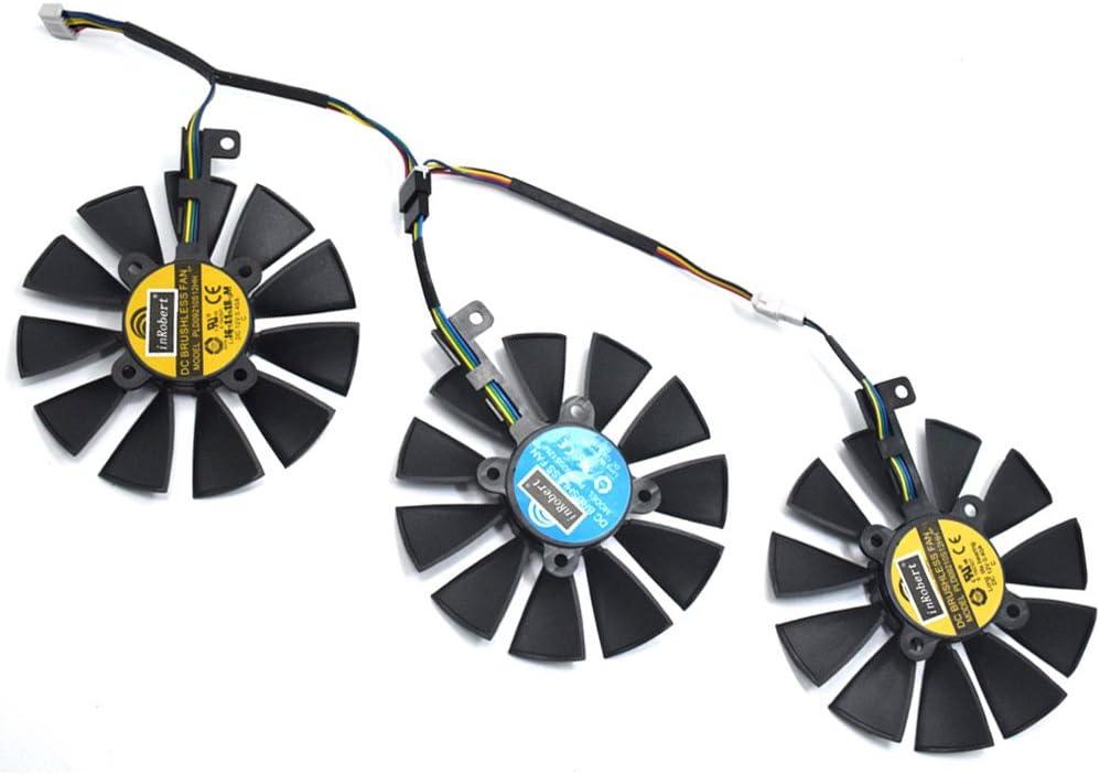 PLD09210S12HH Ventilador de Tarjeta Gráfica Ventilador de Refrigeración para ASUS STRIX R9 390 X 390 RX480 RX580 GTX 980Ti 1060 1070 1080 Graphic Card