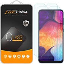 (2 Pack) Supershieldz for Samsung Galaxy A50 Tempered Glass Screen Protector, Anti Scratch, Bubble Free